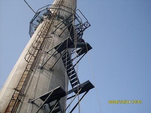 烟囱爬梯安装