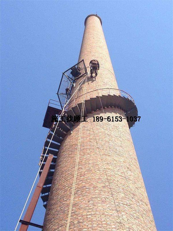 烟囱旋转爬梯安装